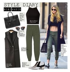 """Style Diary: Gigi Hadid"" by hamaly ❤ liked on Polyvore featuring Yves Saint Laurent, CO, J Brand, Rodarte, women's clothing, women, female, woman, misses and juniors"