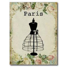 Vintage Paris Fashion Dress Form
