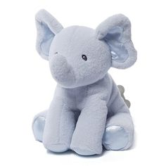 Gund is proud to introduce Bubbles a cute little elephant that's the perfect partner for young adventurers. This 8.5' blue music toy plays 'Brahms' Lullaby' when you wind the key located on the back....