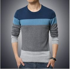 Cheap brand men sweater, Buy Quality fashion men sweater directly from China men brand sweater Suppliers: L G 2017 New Autumn Fashion Brand Casual Sweater O-Neck Striped Slim Fit Knitting Mens Sweaters And Pullovers Men Pullover Men Pullover Mode, Pullover Sweaters, Men Sweater, Mens Pullover, Polo Sweater, Knitting Sweaters, Cardigans, Fashion Brand, Mens Fashion