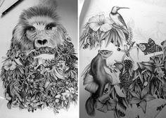 Сюрреалистические графитовые рисунки от творческого дуэта Violaine & Jeremy.