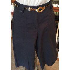 "Talbots Shorts Black capris. Front and back pockets along with belt loops. 28"" waist, 17 1/2"" inseam Talbots Shorts Bermudas"