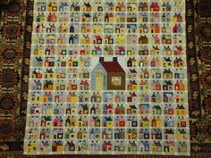 Building houses from scraps  If you love house quilts then you must see this blog!
