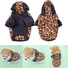 Fashion Soft Cotton Dog Leopard Print Hoodie Coat Pet Winter Clothes