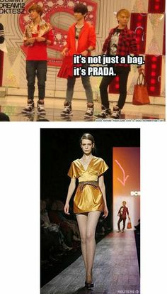 hahaha i love this so much. Too bad it's actually a BCBG fashion runway and not prada....  #SHINee #Jonghyun