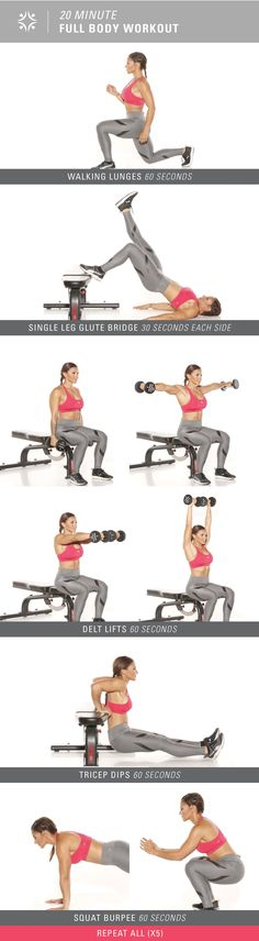 Only have 20 minutes? Check out this full body workout!
