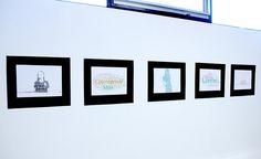 """autobiotypographique"" exhibition installation ~ Grade 5, 7, 8 & Art Club Co-curricular collaboration."
