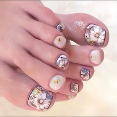 Pedicure Nail Art Design, If you've got hassle decisive that color can best suit your nails, commit to mirror this season or your mood! Cute Pedicure Designs, Toe Nail Designs, Pedicure Ideas, Foot Pedicure, Pedicure Nail Art, Toe Nail Color, Toe Nail Art, Feet Nail Design, Nails Design
