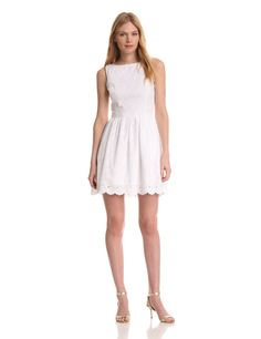 Lilly Pulitzer Women's Sandrine Dress, Resort White Dupre Eyelet