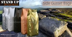 The layout of #gussetbags is a pouch with #twosidegussets and a #bottomsealing.We offer #sidegussetbags in various #sizes, #shapes, #colors and #categories.