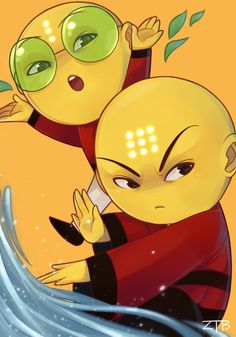 Omi and Ping Pong from Xiaolin Showdown by Sm00th-4nal-----> Cute!