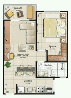 Pinterest: @claudiagabg | Apartamento de soltería #casaspequeñasplanos #casasmodernasestrechas