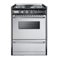 "20"" Slide-in Electric Range with 4 Coil Elements, 2.5 cu. ft. Capacity, Oven Window, Towel Bar Handles and Storage Drawer. SUMMIT PROFESSIONAL brings luxur"
