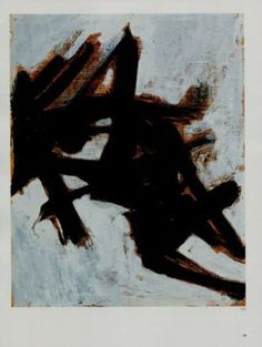 Franz Kline Study for Black and White #1 Art Ad