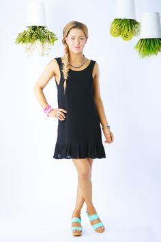 The katie frill dress is the perfetc LBD by Hannah Claire www.hannahclaire.co.nz