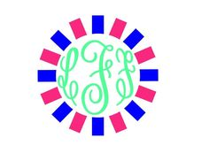 New to FrannysShop1 on Etsy: Monogram Decal (6.00 USD)