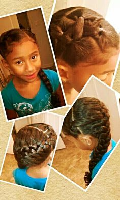 Magnificent Little Girl Braids Girls Braids And Easy Hairstyles On Pinterest Hairstyle Inspiration Daily Dogsangcom