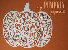 giochi di carta silvia raga: carved pumpkin