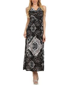 Look what I found on #zulily! Black Paisley Cowl Neck Maxi Dress #zulilyfinds