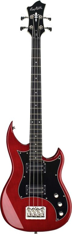 Hagstrom Vintage Series 4-String Double-Cutaway Electric Bass Guitar Wild Cherry…