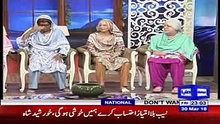 The Awesome World: Hasb e Haal With Azizi as Old Women On Dunya News ...