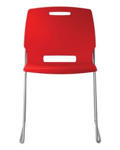 right around $100 net, this is a decent looking commerical grade chair that comes in a lot of cute colors and rivals anything your clients may be inclined to pick up at Ikea... It has a commercial warranty, will hold up longer and will support more weight. Has a dolly option, tablet arm option and stacks...