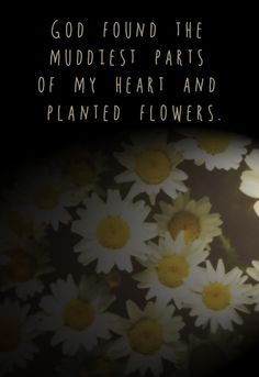 God found the muddiest parts of my heart and planted flowers.