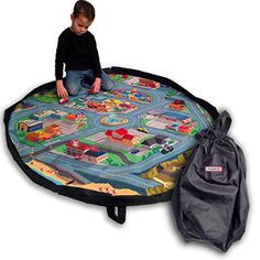 City Scene Drawstring Play Mat - 5 Foot Diameter - Play for Hours and Clean up in Seconds - Race Your Cars or Build with Your LEGO Blocks - Perfect Storage and Travel Solution - By Creative QT Creative QT http://www.amazon.com/dp/B01A9GNYUM/ref=cm_sw_r_pi_dp_xx3Ywb0Q69TWN