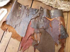 SALE Festival Leather Skirt  Pixie Skirt Burning Man Tribal