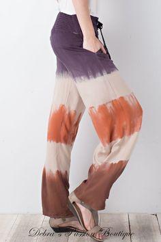 Loose Tie dye pants Bell Bottom Tie Dye Pants Rainbow Pants -TTDP4 Festival Pants Resort Tie dye Pants Boho Hippie Tiered Tie Dye Pants