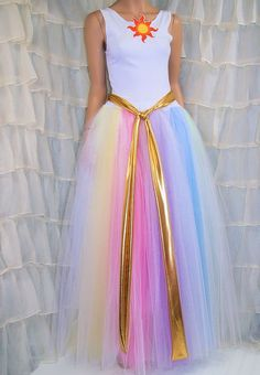 MLP Princess Celestia 3 Piece Dress Costume Cosplay Adult Medium MTCoffinz - Ready to Ship