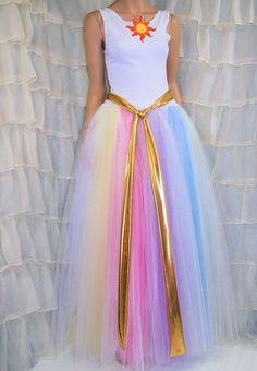 MLP Princess Celestia 3 Piece Dress Costume Cosplay Adult Medium MTCoffinz - Ready to Ship