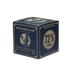 Cube of Pure Marseilles Soap In Vintage Style Box (Olive Oil) - 100g or 400g