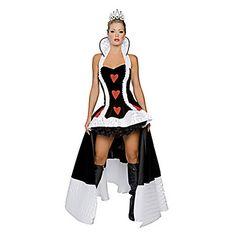 Queen of Hearts Black Teryleen Women's Halloween Party Kostuum - EUR € 51.14
