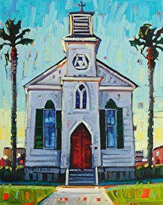 """""""Saint Joseph's Chapel,"""" by Rene Wiley by Rene' Wiley Gallery Oil ~ 20 x 16"""