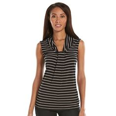Women's Dana Buchman Knot-Front Top - available in a variety of solids and patterns
