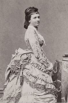 Queen Maria Theresa of Bavaria, neé Archduchess of Austria-Este. Mids 1870s.