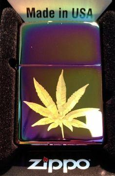 Zippo Custom Lighter - Marijuana Pot Weed Ganja Leaf Logo High Polish Spectrum RARE! by Zippo. $39.95