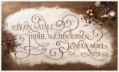 Замес текста  Типографические листы из муки для графического сопровождения немецкой пекарни.