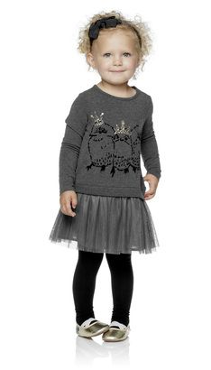 Albany Little DRESS, Grey Melange - POMPdeLUX