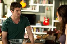 Still of Daniel Gillies and Erica Durance in Saving Hope. Does this go on the hot guys board, or my hot ladies board?