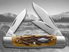 Case XX Jigged Antique Bone Cattle Knife 154CM Stainless Pocket Knives   eBay