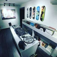 Are you looking for DJ equipment meant for sale that you want to purchase? Dj Setup, Room Setup, Dj Equipment For Sale, Turntable Setup, Dj Table, Vinyl Room, Music Studio Room, Recording Studio Home, Vinyl Storage