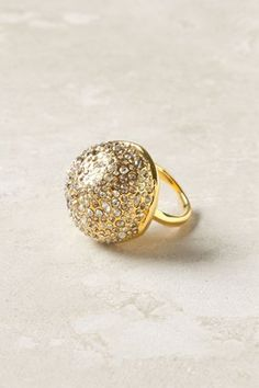 Anthropologie - Pave Sphere Ring #15things #trending #fashion #style #accessories #Anthropologie #alexisbittar