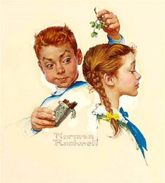 Mistletoe And A Milky Way (c. 1961) by Norman Rockwell