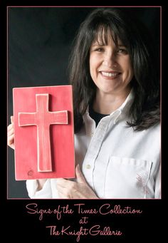 Rustic Cross (red) by TheKnightGallerie on Etsy