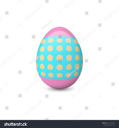 Decorated Easter egg isolated on the white background. Easter symbol or element. Easter Symbols, Easter Eggs, Illustration, Decor, Decoration, Illustrations, Decorating, Deco