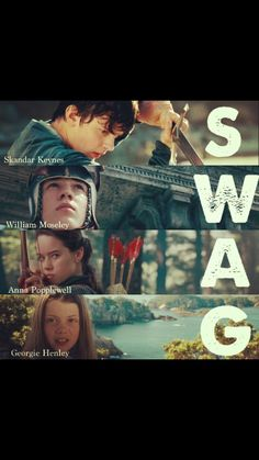 Ha ha literally!! Disney NA - Narnia: SWAG - Skandar Keynes, William Moseley, Anna Popplewell, Georgie Henley
