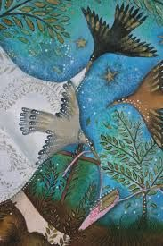 jane ray. The way she stylises birds is really simple and effective. Produces a strong and characterful shape.