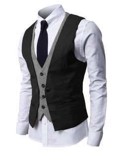 H2H Mens Fashion Business Suit Vest with Layered Style 4 Buttons Point Chain Rings BLACK L (JVSK05) H2H,http://www.amazon.com/dp/B00CFCXC7E/ref=cm_sw_r_pi_dp_Pu8bsb118NF75433